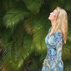 Dresses & Skirts - Blue wrap maxi sundress